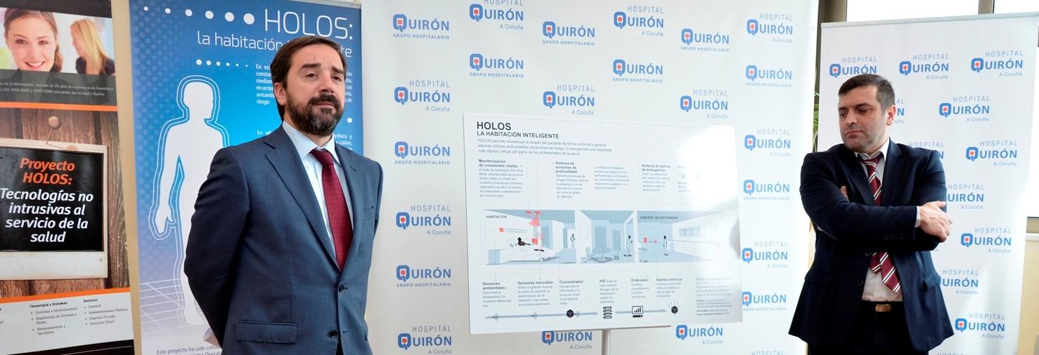 Hospital Quirón A Coruña presenta el proyecto Holos: una habitación inteligente que mide en remoto las constantes vitales del paciente